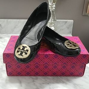 Tory Burch Quilted Leather Flats
